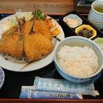 磯の香亭 - アジフライ定食¥1000+税