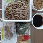 壬生 - 料理写真:テイクアウトセット 肉そば大盛り 900円