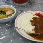 中華食堂仙成 - 料理写真:カレーライス(辛)とラーメン(小)