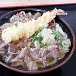 セルフうどん麺太郎 - スタミナうどん(肉うどん+えび天)