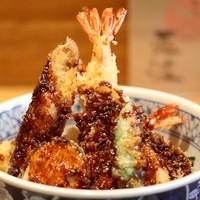 天ぷら 兎波 - 味噌天丼 1050円