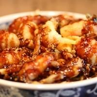 天ぷら 兎波 - かき揚げ味噌天丼 1050円