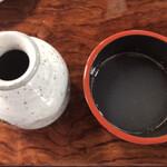 七兵衛そば - 大根絞り汁と蕎麦つゆ