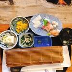 旬の味 伊藤屋 - 料理写真:巻きすをあけると、、