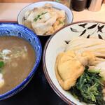 らー麺土俵 鶴嶺峰 - つけ麺(十両) ちゃんこ飯