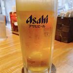 麺屋 ふぅふぅ亭 - アサヒスーパードライ生 中 500円