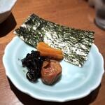 柳町 一刻堂 - *ご飯の友・・海苔が添えられているのはいいですね。