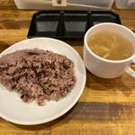 やっぱりステーキ - 雑穀米も食べ放題(セルフ)