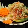バーン ソムデット - 料理写真:パパイヤサラダ1200円 ヘルシーなタイ食材の中でも青パパイヤは特にヘルシー♪