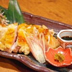 酒肴菜友 じょっぱり - 料理写真:桜姫鶏囲炉裏焼