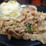 Densetsunosutadonya - 生姜焼き定食640円税込肉の日ゆえ無料で肉1.5倍
