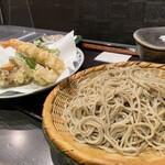 145778792 - 十割もり、海老と野菜の天ぷら