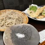 145778796 - 十割もり、海老、野菜天ぷら