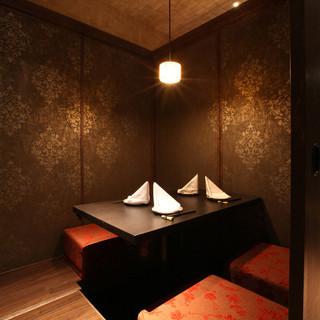 大切な宴会・接待まで幅広く対応可能な個室充実
