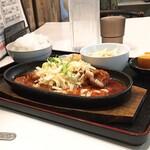 まる飯 - チーズタッカルビ+ライス定食