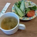 145785258 - スープはセット、サラダは有料(250円)