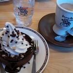 コメダ珈琲店 - 豆乳オーレとのセット