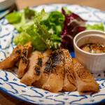 タイ料理 カフェランブータン - 2021.2 コウムーヤン 豚トロの炭火焼き 150g(820円)