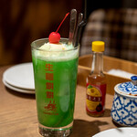 タイ料理 カフェランブータン - 2021.2 メロンクリームサワー(690円)