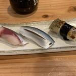 淳ちゃん寿し - 生鯖、小鰭、穴子