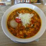 オカゲサマ - 料理写真:トマトラーメン味玉載せ