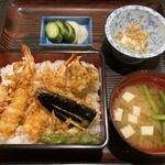 天七 - 料理写真:サービスランチ(天丼)