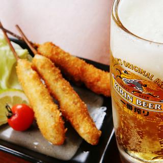 串かつ20種食べ放題+ドリンク飲み放題コースが2680円~!