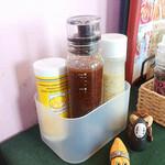 くまキッチン - 粉チーズとドレッシング