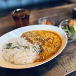 cafeウララカ - 鶏挽肉のキーマカレー
