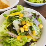 ザ カップス ハーバー カフェ - ランチのサラダ
