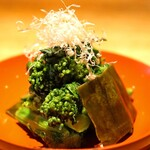 高太郎 - 菜の花の昆布〆