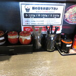 地獄の担担麺 天竜 - 卓上調味料