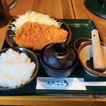 とんかつ こころ - 料理写真:ロースかつ定食 ¥730