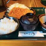 とんかつ こころ - ロースかつ定食 ¥730