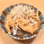 すみれ - 鶏皮の味噌煮込み450円