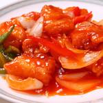 山海楼 - 鶏肉とカシュナッツ炒め