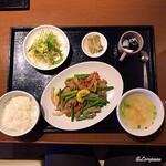中国料理 空 - 若鶏とニンニクの芽炒めランチ