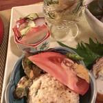 桜びより - おばんざい盛 ・おひたし ・酢のもの ・ポテトサラダ
