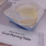 グッド モーニング テーブル - 白に白で映えない件、、、。
