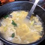 yakinikudoukaisan - セットのたまごスープ
