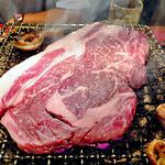 14587873 - 厚切り牛ロース(焼肉中)