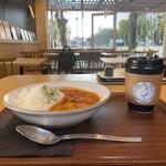 名古屋天狼院 - 元彼が好きだった バターチキンカレー ドリンクセット 1000円(税込1100円) コーヒー