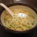 俺流豚骨 - スープが大きな器にに入れられているので食べやすくていいですよ。