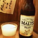 14588465 - 120829東京 炭旬大塚店 瓶ビールはモルツ