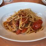 145882536 - 燻製鯖と青唐辛子のトマトソース