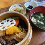 奥多摩釜めし 愉宇 - 料理写真:釜めしミニセット1,250円