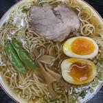 145884024 - 【煮卵入りランチ】                       (中華そば+肉ごはん小+おしんこ)¥910