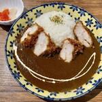 喫茶★レストラン マカロニキッチン - 『チキンカツカレー』様(1280円)※スープ、サラダ付。