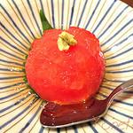 日本料理レストラン RAKU - 長野産フルーツ・トマトの山葵ジュレ