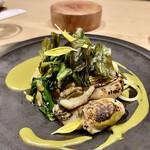 145890666 - 牡蠣と春菊のパスタ
